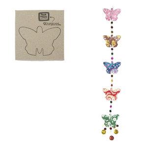 Fairtrade vlinder slinger van papier en kralen