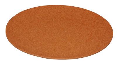 Zuperzozial large bite plate, bamboe dinerbord in oranje