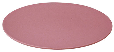 Zuperzozial large bite plate, bamboe dinerbord in roze