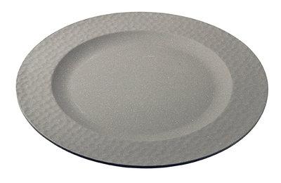 Zuperzozial large bite plate hammered, bamboe dinerbord met hamereffect