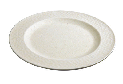 Zuperzozial small plate hammered white. Bamboe ontbijtbord