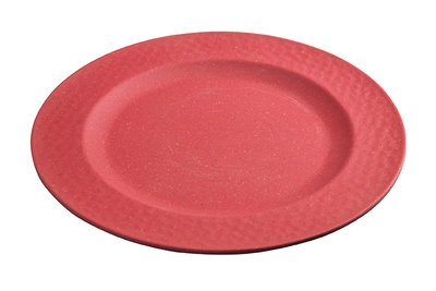 Zuperzozial small plate hammered red. Bamboe ontbijtbord