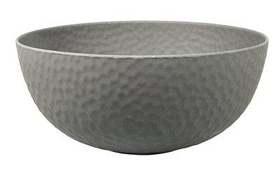 Zuperzozial large hammered bowl in grijs
