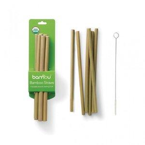 Bambu rietjes set van echt bamboe