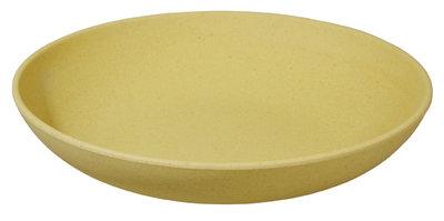 Zuperzozial Deep bite plate, bamboe soepbord geel