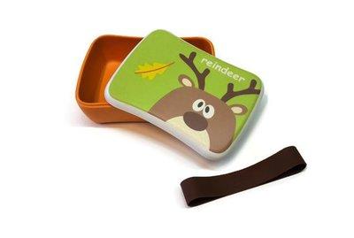 Bamboe lunchbox met rendier print