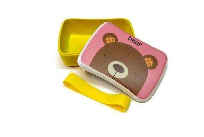 Bamboe lunchbox met beren print