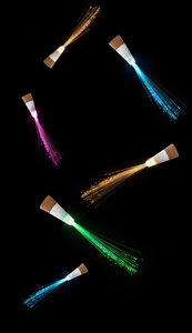 Fibre Optic bottle light multicolour