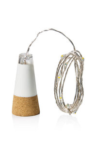String bottle light, kurk lampje