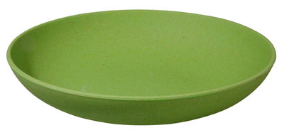 Zuperzozial deep bite plate bamboe diep bord in wasabi green