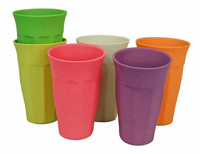 Zuperzozial XL cupful of colour rainbow, grote bamboe bekerset