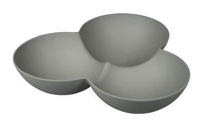 Zuperzozial Grab a snack Stone Grey, 3 vaks schaal grijs