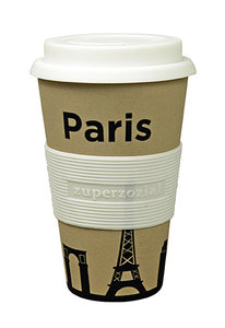 zuperzozial Cruising Travel Mug Paris, bamboe koffiebeker