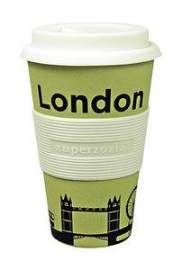 Zuperzozial bamboe koffiebeker london