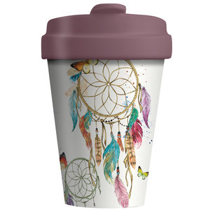 BambooCup Coffee to go beker van bamboe Dreamcatcher