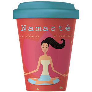 Bamboocup Koffie to go beker Namasté