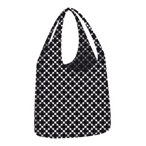 Ecozz little big bag Squares Black opvouwbare shopper
