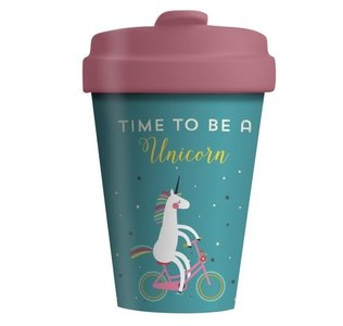 Time to be a Unicorn Bamboocup koffiebeker
