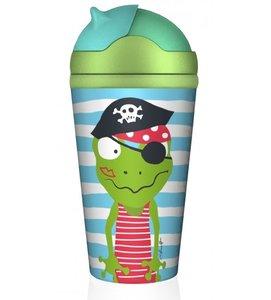 Bamboofriends kinder drinkbeker met rietje, piratenschat Quaky