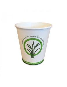 Suikerriet koffiebeker 2dl, 100% composteerbaar