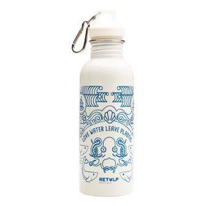 Retulp 750ml drinkfles RVS wit ocean