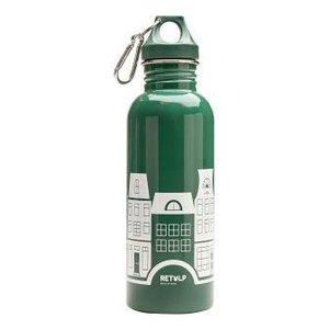Retulp RVS drinkfles groen met grachtenpandjes