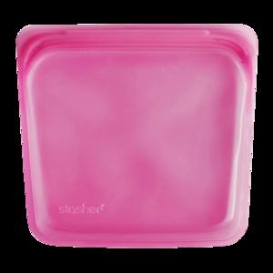Stasher Bag raspberry roze