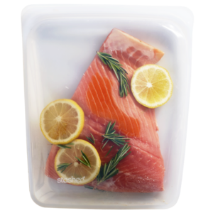 Stasher bag large met zalm
