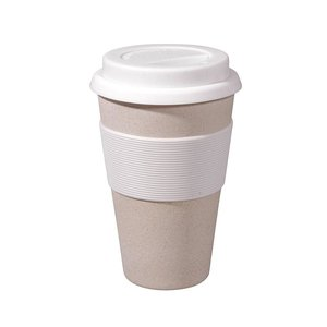 Zuperzozial White Cruising Travel Mug bamboe koffiebeker