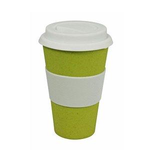 Zuperzozial Cruising Travel Mug bamboe koffiebeker geel