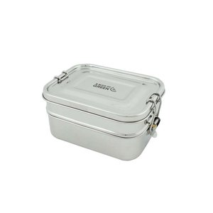 Buruni Leak resistant Two tier lunch box GreenPicnic