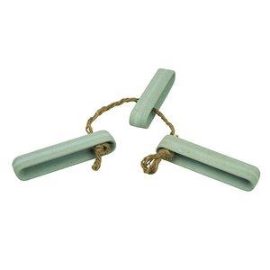 Stick up the Heat onderzetter voor pannen en schalen van lichtblauw bamboe en jute