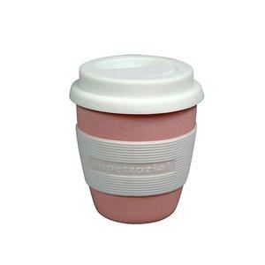 Roze bamboe Coffee to go koffiebeker Zuperzozial