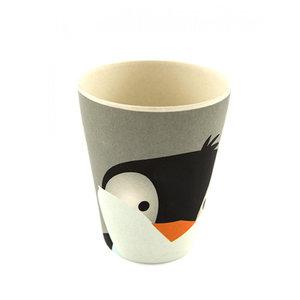 YuuNaa bamboe beker met pinguïn print
