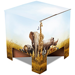 Dutch Design Chair met Safari dieren print