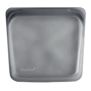 Siliconen bewaarzakje Stasher bag grijs
