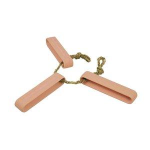 Stick up the Heat onderzetter voor pannen en schalen van roze bamboe en jute