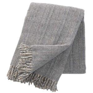 Klippan deken Bjork grey, ecowol deken Grijs