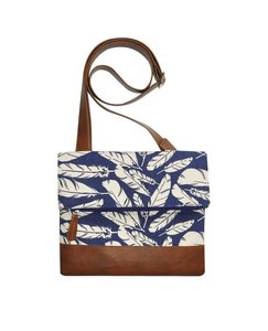 Fairtrade schoudertas  blue feather
