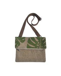 Fairtrade schoudertas Green Leaf