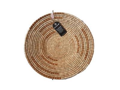 Fairtrade wandhanger of fruitschaal van gevlochten bladeren