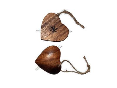Fairtrade houten wens hartjes Greenpicnic