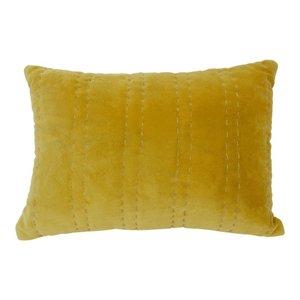 Imbarro cushion Lili Ocre, okergeel sierkussen