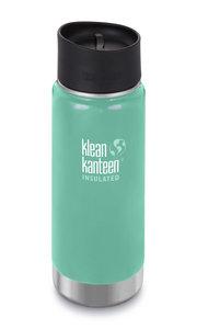 Klean Kanteen wide dubbelwandige turquoise drinkbeker groot
