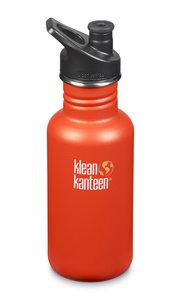 Klean Kanteen Sierra Sunset, classic RVS drinkfles in mat oranje