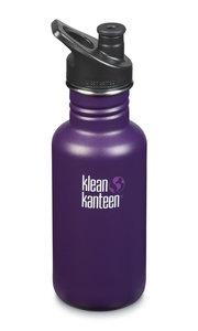 Klean Kanteen Winter Plum, classic RVS drinkfles in mat paars