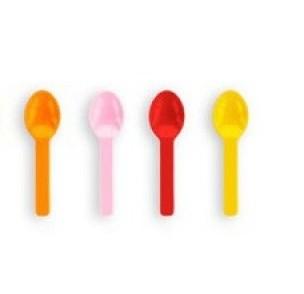 Gekleurde Bio ijslepeltjes van maïs PLA