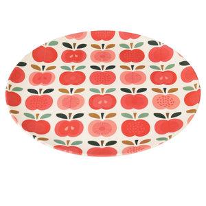 Groot bamboe bord vintage apple van REX london