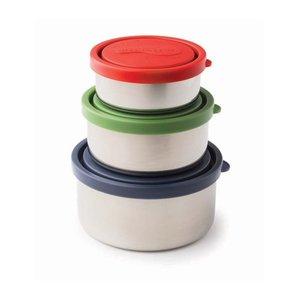 RVS voedselcontainers met gekleurde deksel U-Konserve