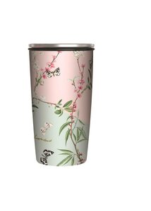 Bamboe SlideCup RVS en bamboe coffee to go beker Butterfly Branches